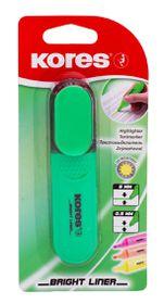 Kores Bright Liner Chisel Tip Highlighter - Green