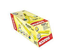 Kores K-Marker Highliner Chisel Tip Highlighters - Yellow (Box of 12)
