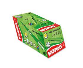 Kores K-Marker Highliner Chisel Tip Highlighters - Green (Box of 12)