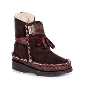 Gurmuki Sheep's Wool Leather Boots - Chocolate
