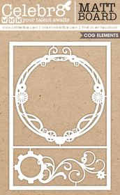 Celebr8 Matt Board Maxi - Cog Frame & Flourish Set