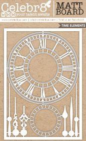 Celebr8 Matt Board Maxi - Ornate Clock