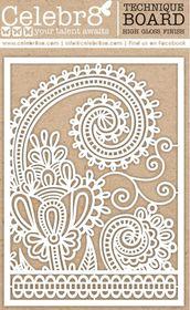 Celebr8 Gloss Technique Board Maxi - Paisley Pattern
