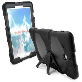 "Tuff-Luv Defender Case (Rugged) for the Samsung Tab E 9.6"" - Black"