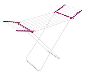 Meliconi - Clothes Resin Coated Steel Drying Rack - Fuschia