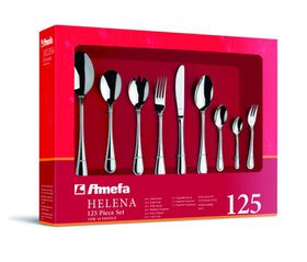 Amefa - Helena 18/0 Stainless Steel Cutlery Set - 125 Piece