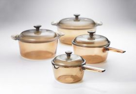Visions - 8 Piece Cookware Set - Amber