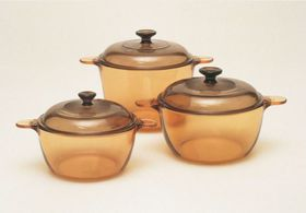 Visions - 6 Piece Cookpot Set - Amber