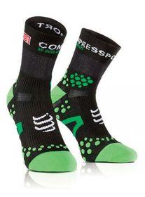 Compressport Pro Racing sock, Run Hi - Green Black - T2