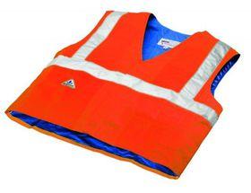 Techniche Hyperkewl Evaporative Cooling Traffic Safety Vest - Orange