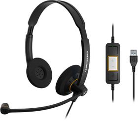 Sennheiser SC60 USB ML Binaural UC Headset - Black