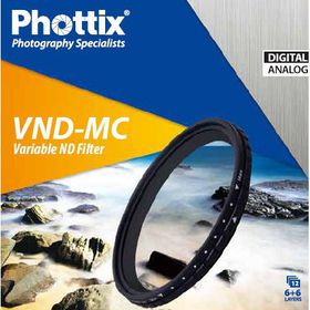 Phottix Variable ND Multi-Coated Filter (VND-MC) 52mm
