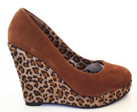 Roayena Fashion Leopard print wedge FZ05-10 Camel