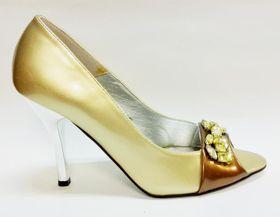 Lavanda Mettalic Peeptoe Heel L08H421 - Gold