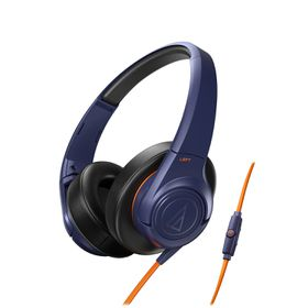 Audio Technica SonicFuel Headphones with Remote & Mic - Navy