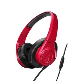 Audio Technica SonicFuel Headphones with Remote & Mic - Red