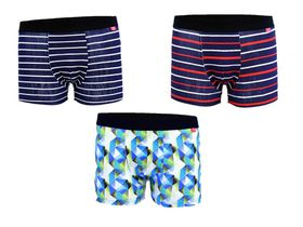 Undeez Online  Stripes and Geo Print Boxer 3 Pack