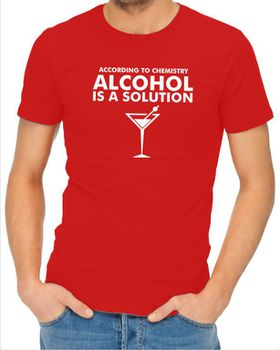 JuiceBubble According to Chemistry Men's Red T-Shirt