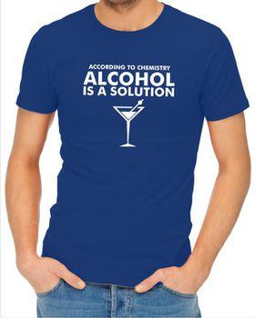 JuiceBubble According to Chemistry Men's Royal Blue T-Shirt