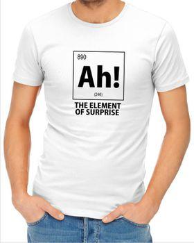 JuiceBubble Ah! The Element of Surprise Men's White T-Shirt