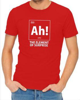 JuiceBubble Ah! The Element of Surprise Men's Red T-Shirt