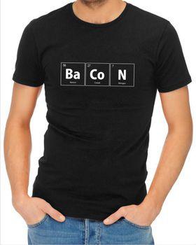 JuiceBubble BaCoN Men's Black T-Shirt