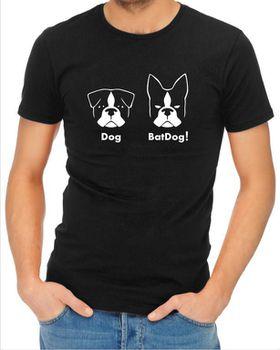 JuiceBubble BatDog Men's Black T-Shirt