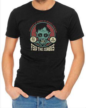 JuiceBubble Feed the Zombies Men's Black T-Shirt