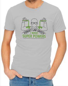 JuiceBubble Forget Lab Safety Men's Grey T-Shirt