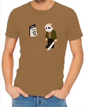 JuiceBubble Friday the 12th Men's Khaki T-Shirt