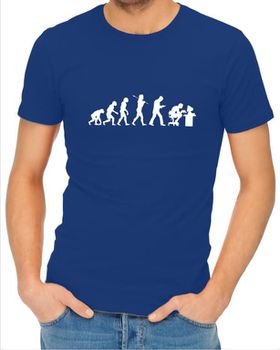 JuiceBubble Gamer Evolution Men's Royal Blue T-Shirt