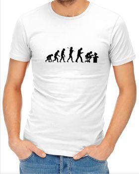 JuiceBubble Gamer Evolution Men's White T-Shirt