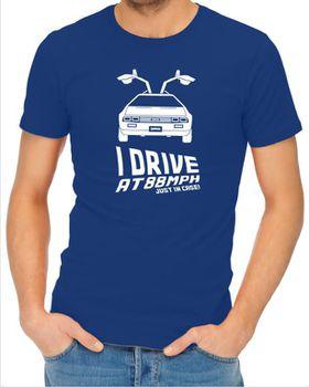 JuiceBubble I Drive at 88mph Men's Royal Blue T-Shirt