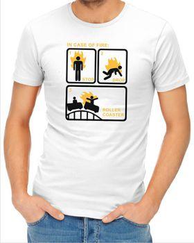 JuiceBubble In Case of Fire Men's White T-Shirt