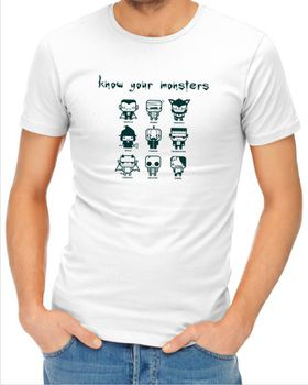 JuiceBubble Know Your Monsters Men's White T-Shirt