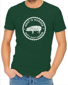 JuiceBubble Meat is Murder Men's Bottle Green T-Shirt