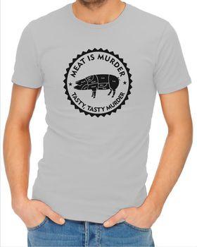 JuiceBubble Meat is Murder Men's Grey T-Shirt