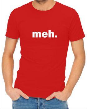 JuiceBubble Meh Men's Red T-Shirt