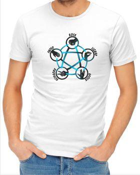 JuiceBubble Rock Paper Scissors Men's White T-Shirt
