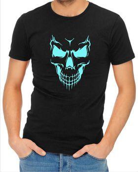 JuiceBubble Scary Skull Face Men's Black T-Shirt