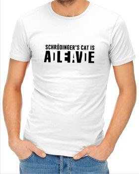 JuiceBubble Shrodingers Cat Men's White T-Shirt