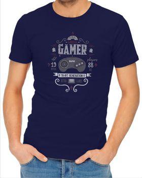 JuiceBubble The Mega Gamer Men's Navy T-Shirt