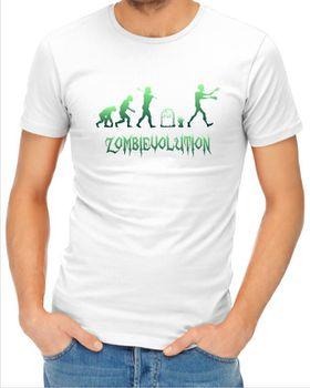 JuiceBubble Zombievolution Men's White T-Shirt