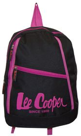 Lee Cooper Small Backpack With Contrast Design-Black Pink
