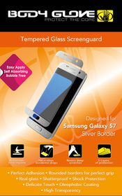 Body Glove Tempered Glass Screen Guard for Samsung S7 - Silver Border