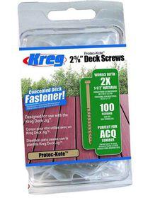 Kreg - Protec-Kote Deck Screws 2 5-8 Inch 8 Coarse Pan Head - 100Ct