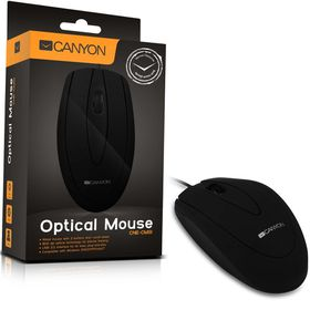 Mouse , Black (Wired, Optical 800, 3 btn, USB) (PC)