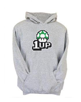 JuiceBubble 1Up Men's Grey Hoodie