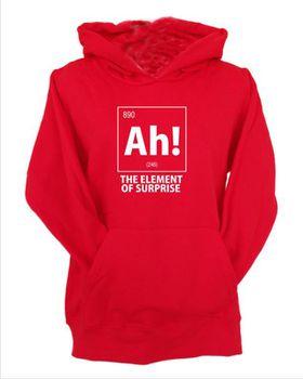 JuiceBubble Ah! The Element of Surprise Men's Red Hoodie