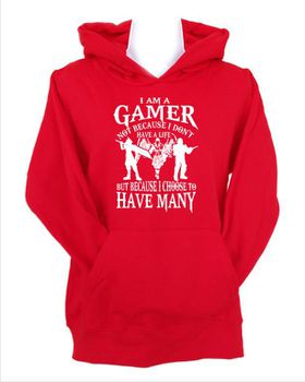 JuiceBubble I'm a Gamer Men's Red Hoodie